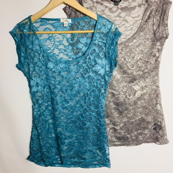 Guess two lace tee shirt